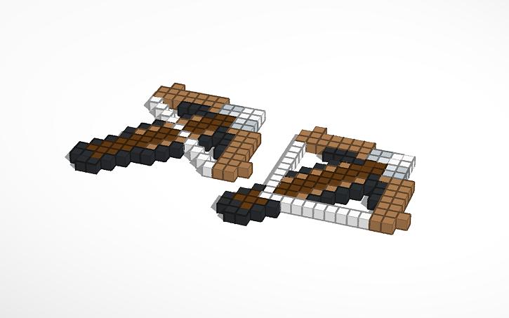 printable Minecraft crossbow | Tinkercad