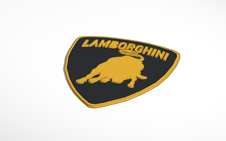 3d Design Copy Of Lamborghini Logo Tinkercad