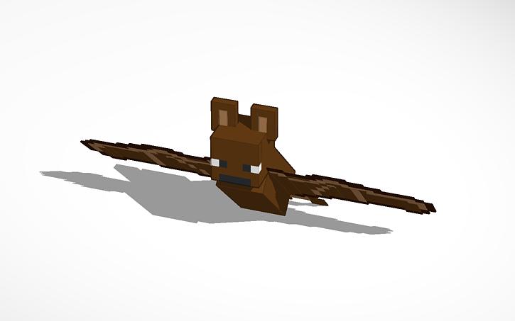 3d Design Minecraft Bat Minecraft Tinkercad