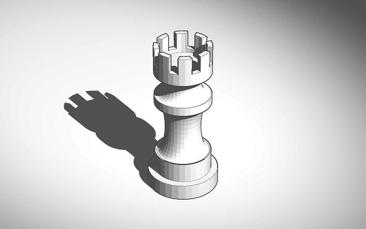 3D design Chess Piece: Rook | Tinkercad