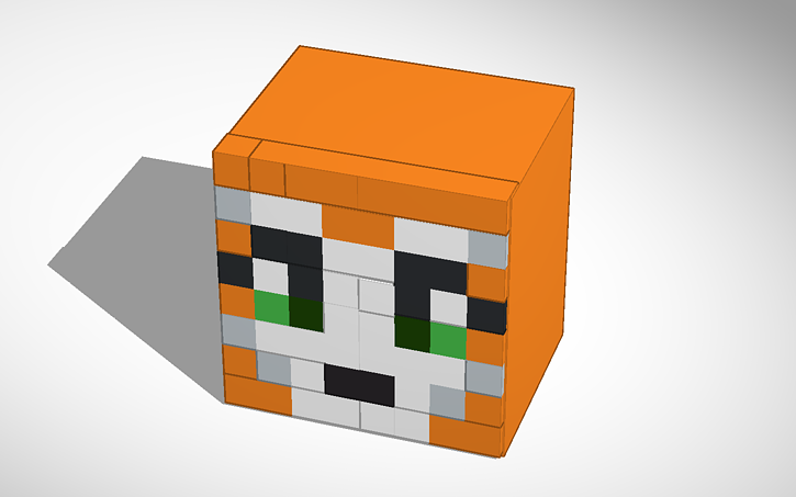 3D design Stampy longnose head #characters #minecraft | Tinkercad