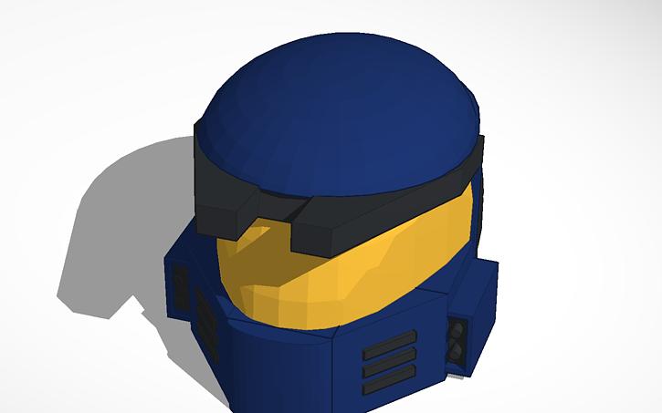 3D design Rune helmet (Mark V Halo undetailed) | Tinkercad