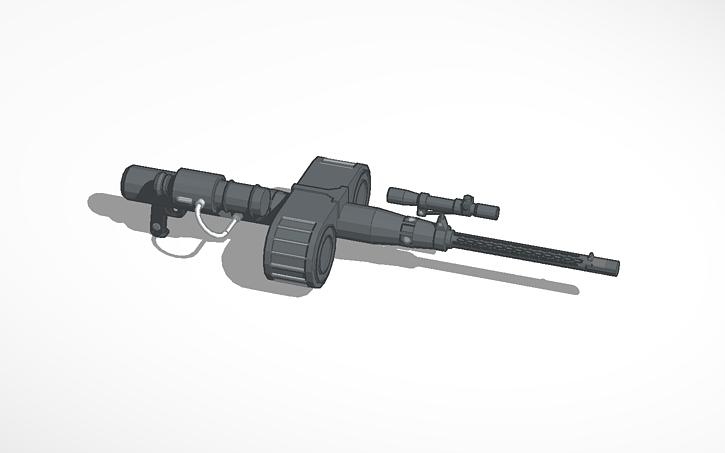3D design RT-97C Heavy Blaster #StarWars #Blasters (WH)   Tinkercad