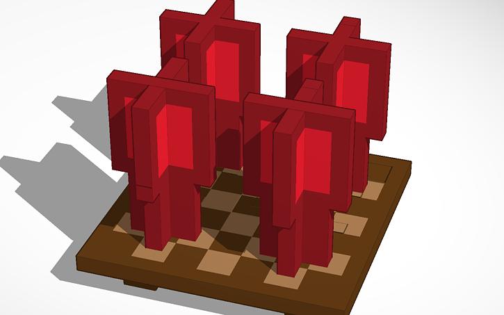 3D design MINECRAFT: Nether Wart/Stalk(Stage 2 of 3, oCd