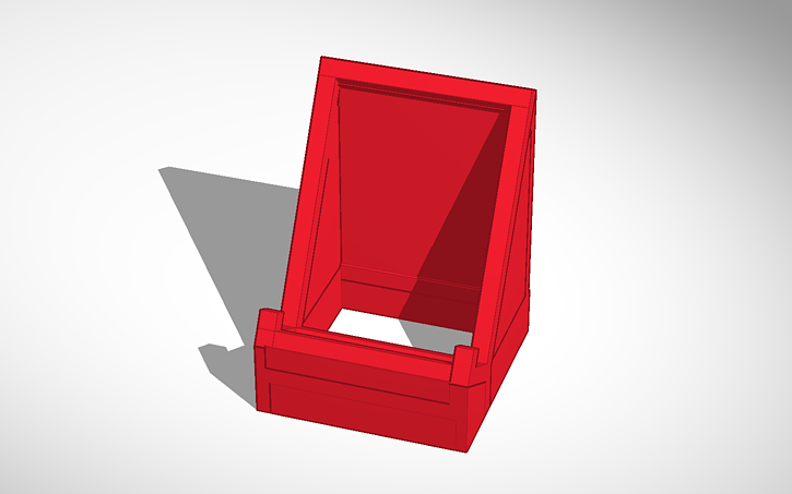 3d Design Copy Of Phone Stand Tinkercad