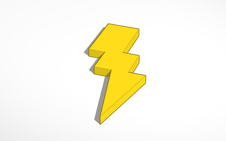 3D Design Zeus Lightning Bolt