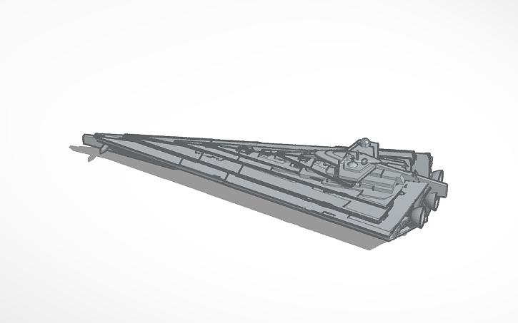 3D design the finalizer (first order star destroyer) | Tinkercad