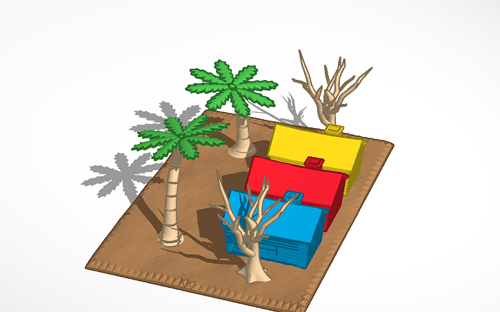 Magnificent 3D Design Beach Houses And Trees View It In 3D Tinkercad Download Free Architecture Designs Scobabritishbridgeorg