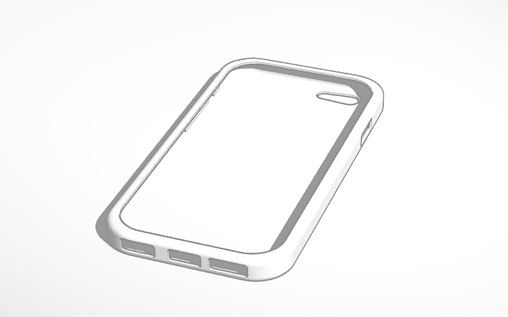 3d Design Iphone 6 Case Template Tinkercad