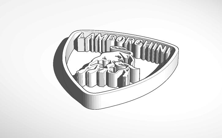 3d Design Lamborghini Logo Tinkercad