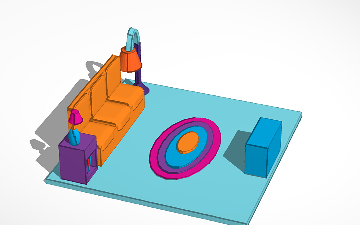 3D design The Simpsons living room | Tinkercad