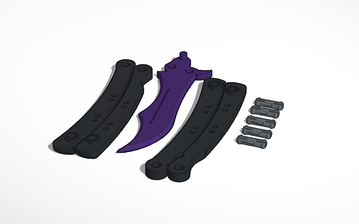 3D design CS:GO Butterfly Knife | Tinkercad