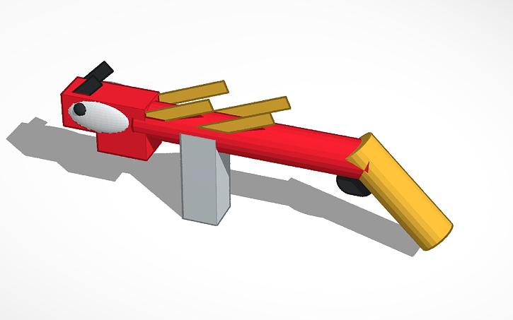 3D design dragon AR fortnite save the world   Tinkercad