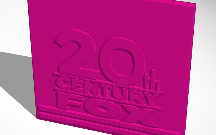 3D design 20th Century Fox Logo | Tinkercad