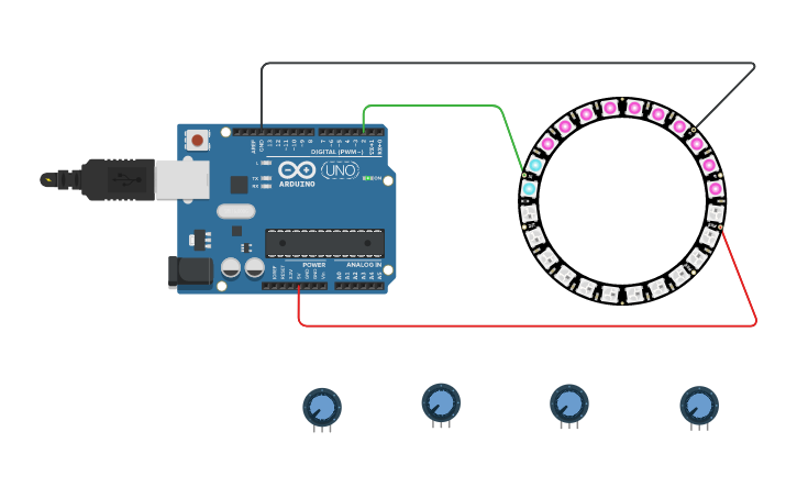 Circuit design 08 Neopixel | Tinkercad