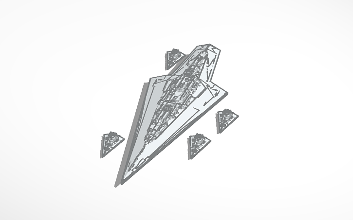 3D design Executor-Class Super Star Destroyer (Print Version