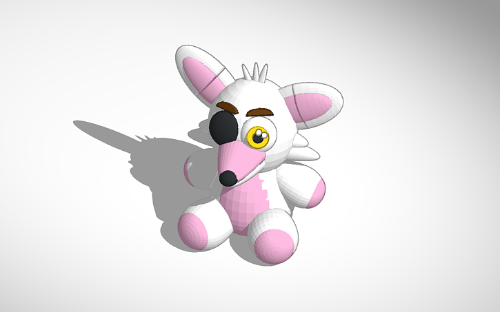 3D design Mangle Plushie fnaf (originally foxy plush made by