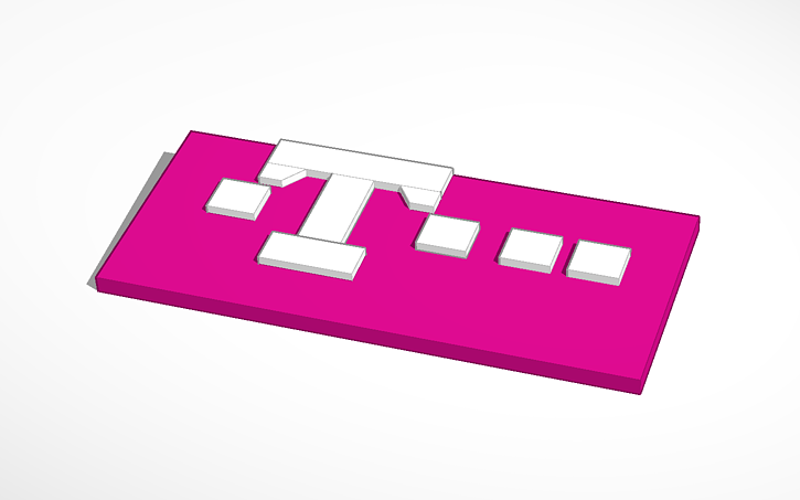 T Mobile Logo Tinkercad