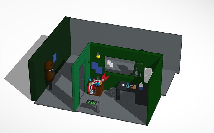 3D design Five Nights at Freddy's 3 Office | Tinkercad