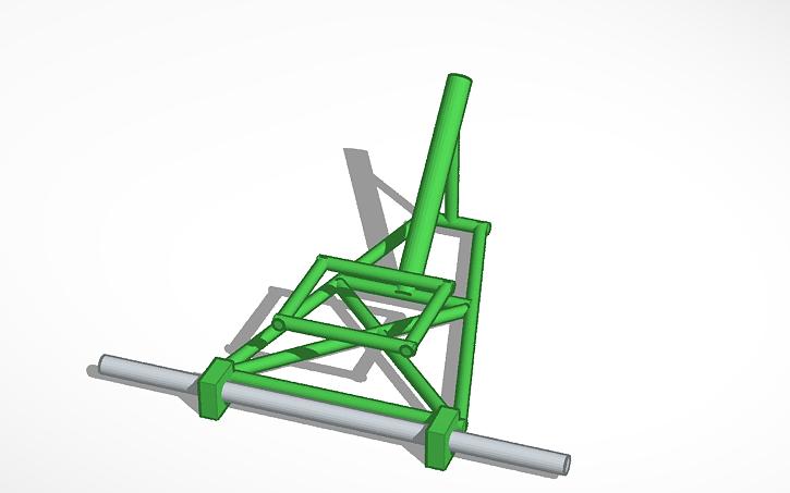 3D design Motorized Drift Trike Frame | Tinkercad