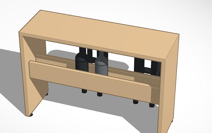 3D design Mesa Auxiliar Cocina | Tinkercad