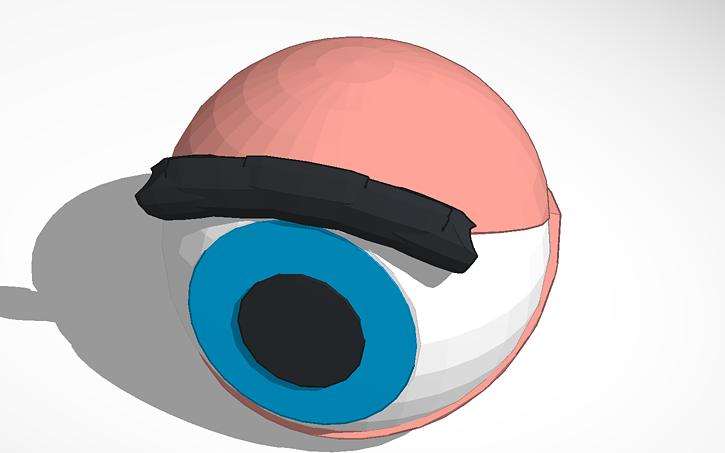 3d Design Eyeball Eyelids Tinkercad
