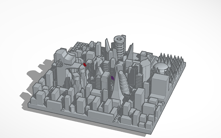 3D Design Stark Tower And Iron Man With City