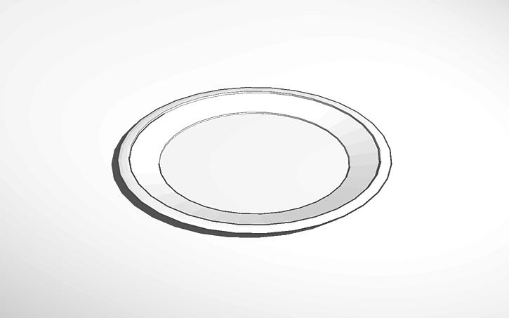 3d Design Plate Template Template Plate Irony No Pun