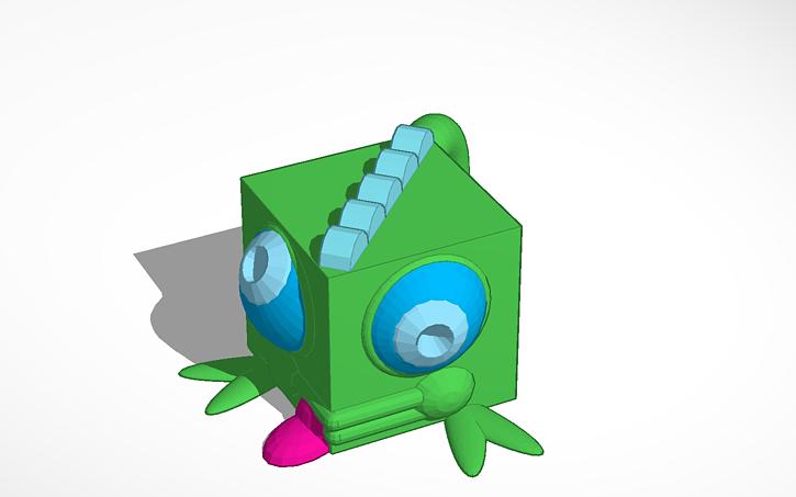 3d Design 3dblockzoo Chameleon Tinkercad