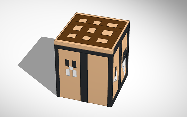 minecraft crafting table 3d model