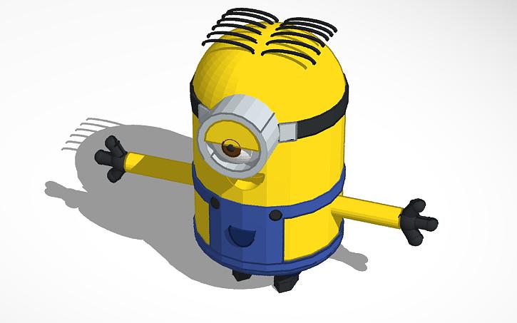 3d Design Stuart Minion From Minions Tinkercad