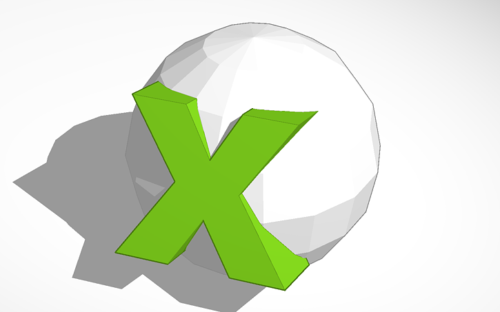 3d Design Xbox 360 Symbol Popped Out Tinkercad