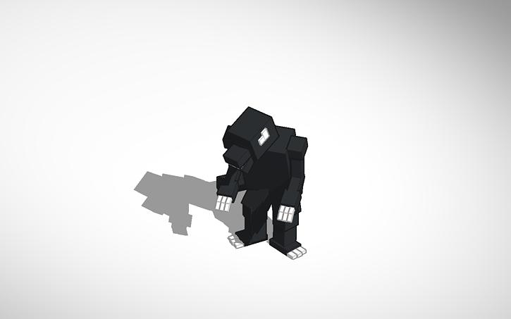 3d Design Minecraft Ghost Godzilla Model Tinkercad