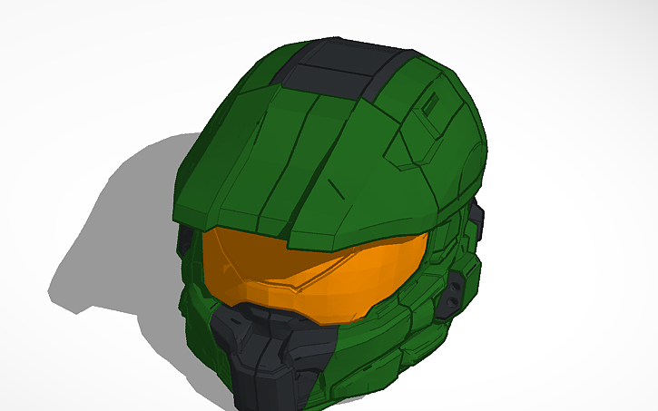 3d Design Halo Master Chief Helmet With Service Tag On Back