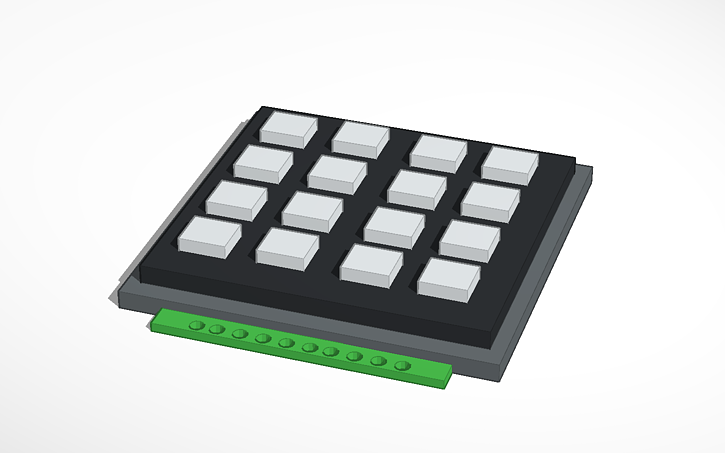 3D design 4x4 Matrix Keypad | Tinkercad
