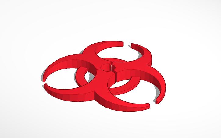 3d Design Biohazard Symbol Tinkercad