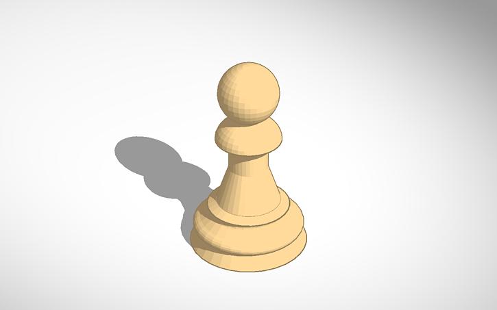 3D design Staunton Pawn #Chess #Halsey157 #Darkness   Tinkercad