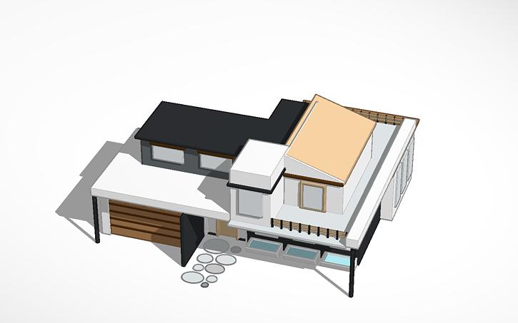 3D design Modern house | Tinkercad