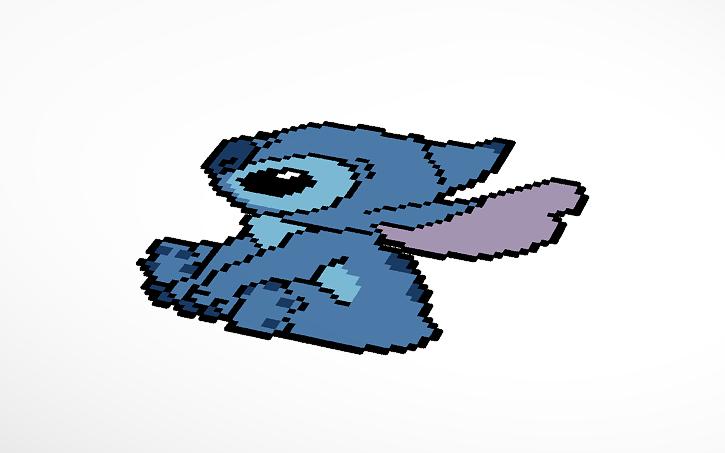 Stitch Pixel Art Tinkercad