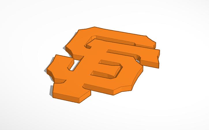 3d Design Sf Giants Baseball Logo Tinkercad