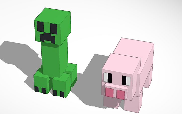 3d design minecraft animals tinkercad Tinkercad 3d