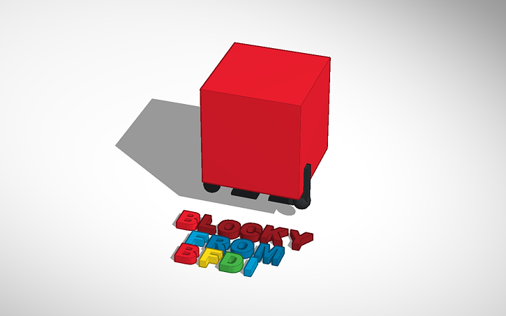 3D design BLOCKY from BFDI | Tinkercad