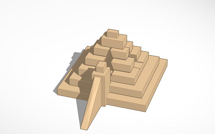 3D design Mesopotamia Ziggurat | Tinkercad