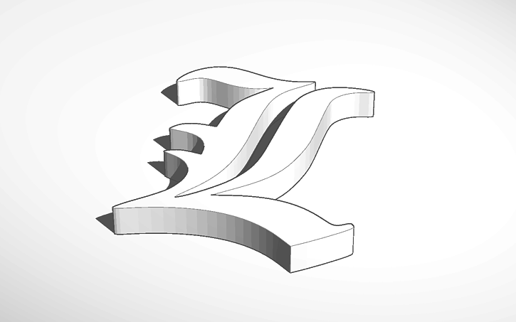 3d Design L Symbol From Death Note Tinkercad