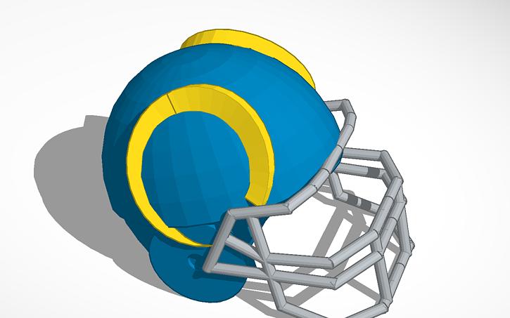 3d Design La Rams Helmet Tinkercad