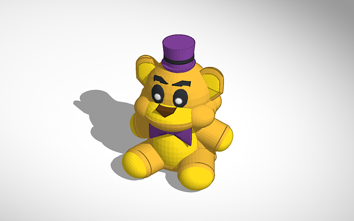 3D design Fnaf 4 Fredbear Plush(Plushbear  ?) Model | Tinkercad