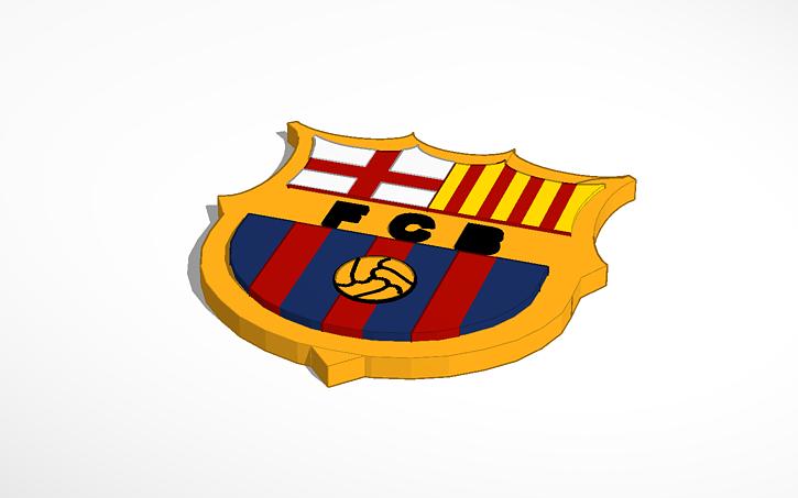 fc barcelona logo tinkercad fc barcelona logo tinkercad
