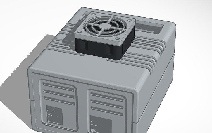3D design Arduino Uno + CNC Shield Case With 30mm Fan | Tinkercad