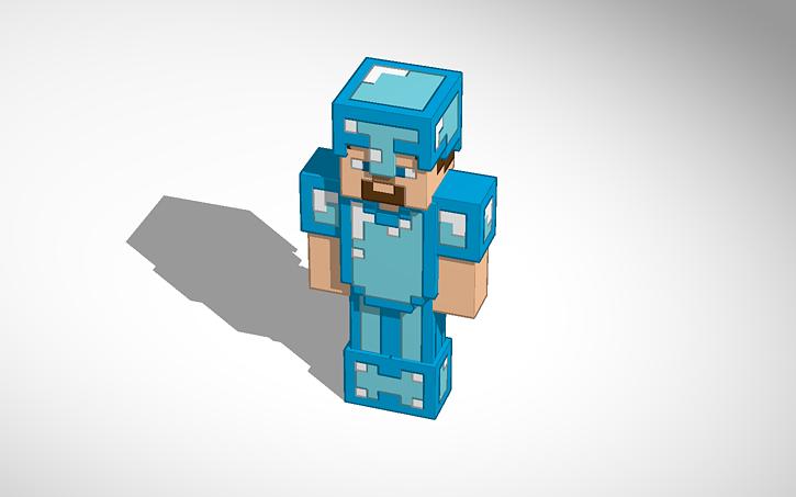 Minecraft Diamond Armor Steve Tinkercad