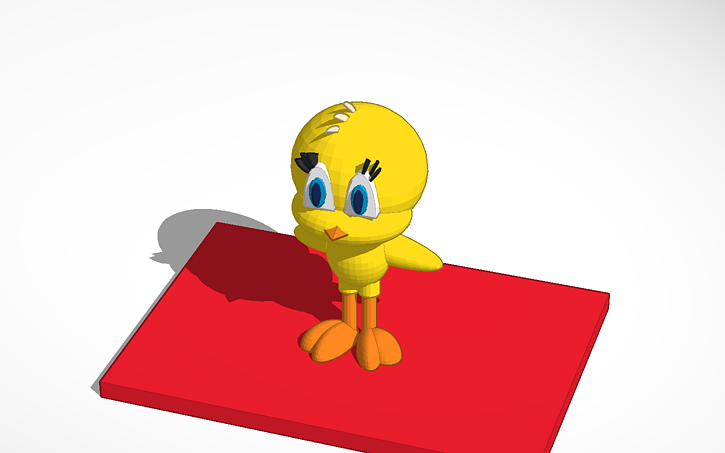 3D design Tweety Bird   Tinkercad